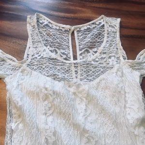 Hollister Lace Overlay Cold Shoulder Dress